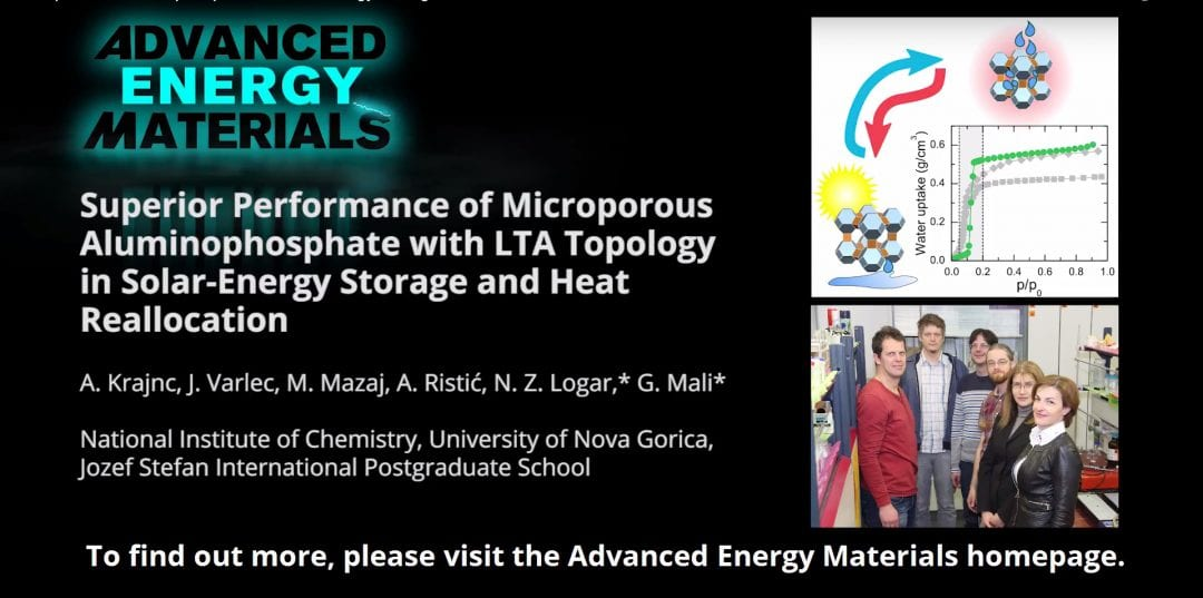 Microporous Aluminophosphate in Solar-Energy Storage and Heat Reallocation