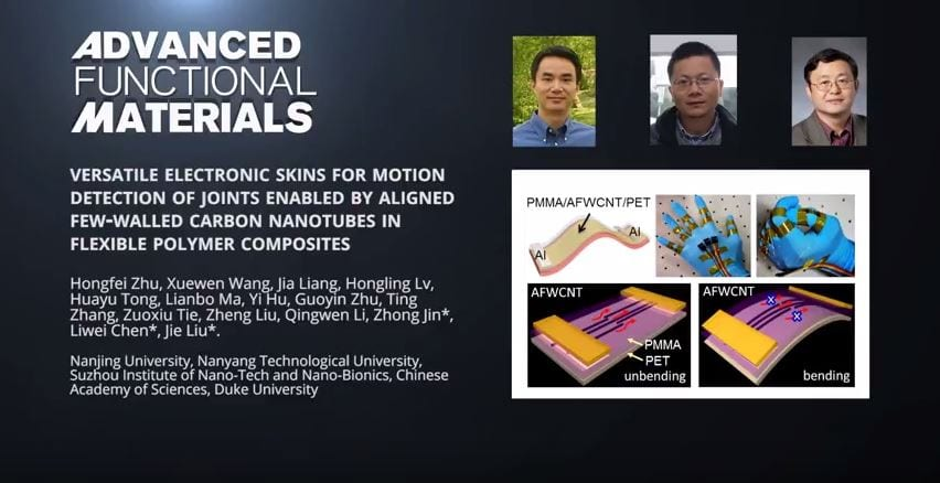 Versatile Electronic Skins for Motion Detection of Joints