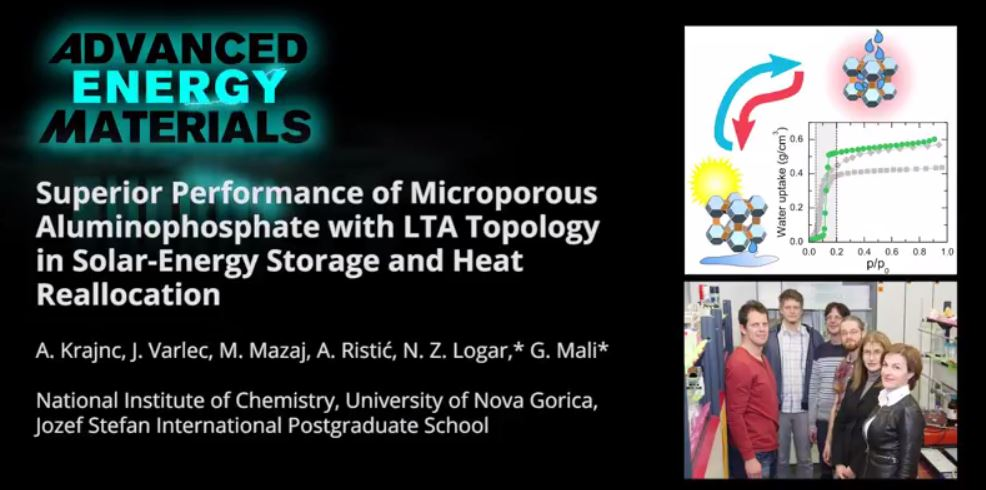 Microporous Aluminophosphate for Solar Energy Storage
