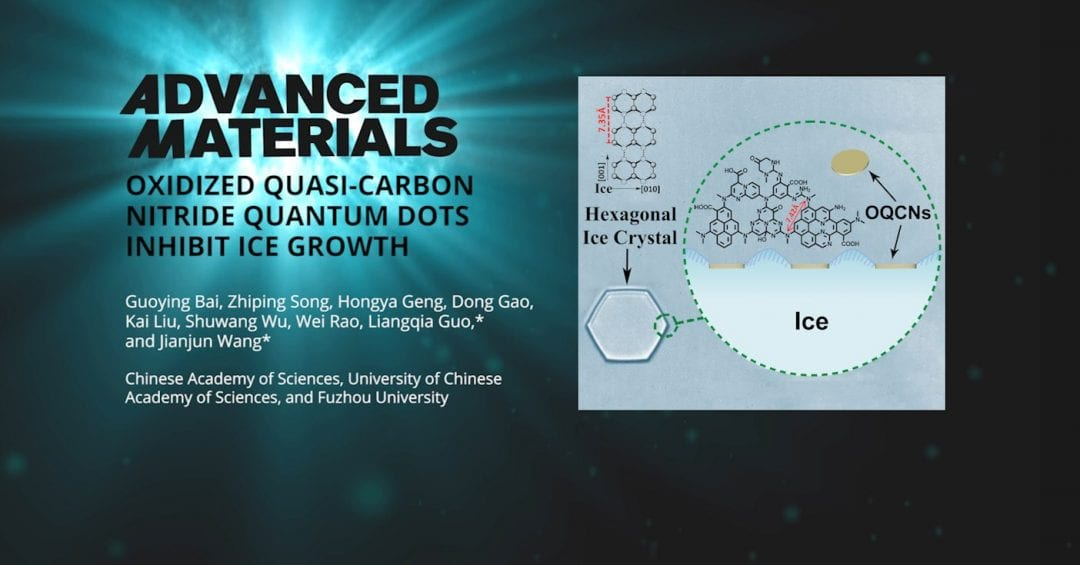 Graphitic Carbon Nitride Derivatives for Cryopreservation