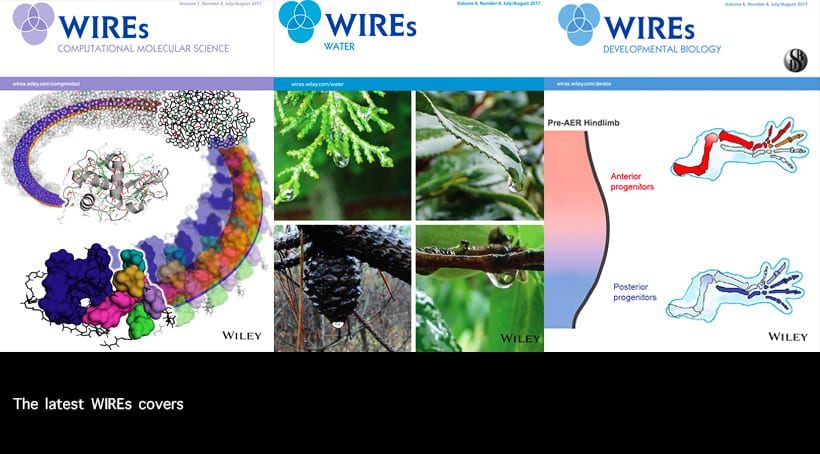 WIREs – Wiley Interdisciplinary Reviews: Cover Articles featuring Physical, Life, and Social Sciences
