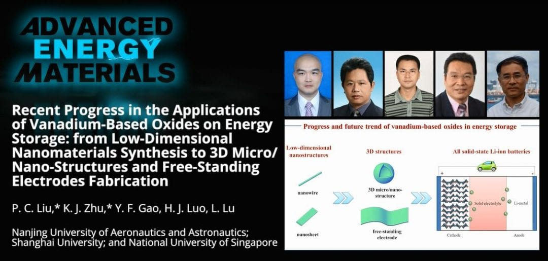 Recent Progress in the Applications of Vanadium-Based Oxides on Energy Storage