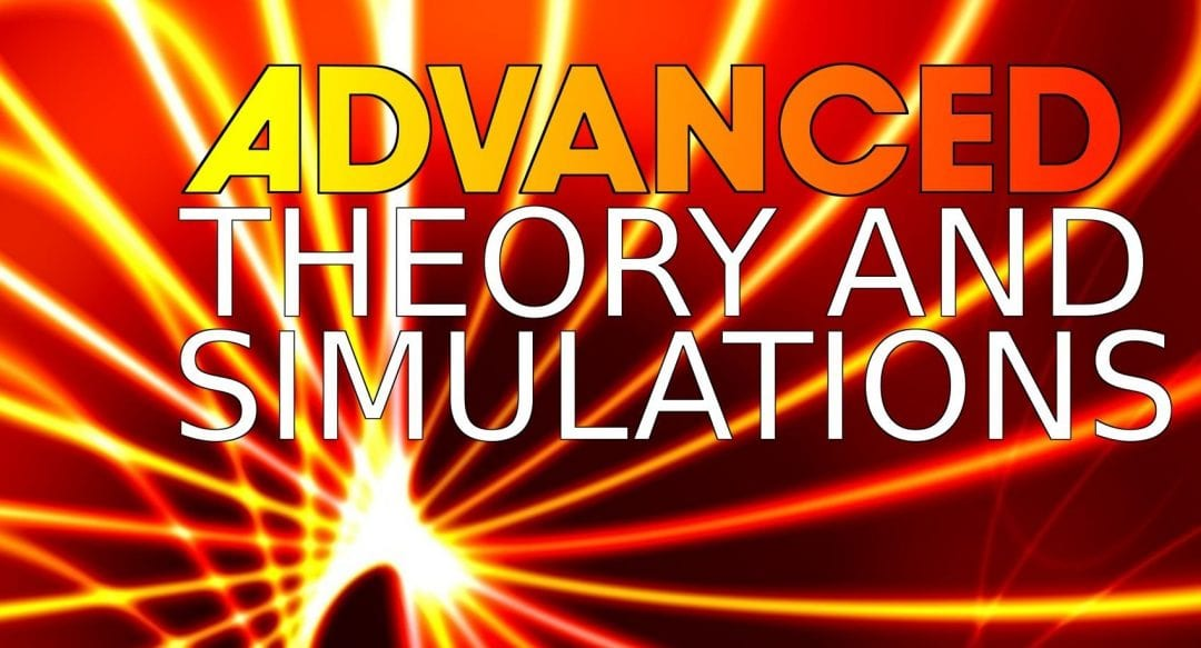 Advanced Theory and Simulations journal set for launch in January 2018, submissions now open