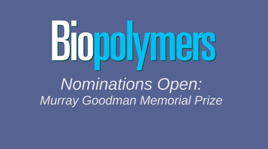 Murray Goodman Memorial Prize Nominations – Deadline Extended