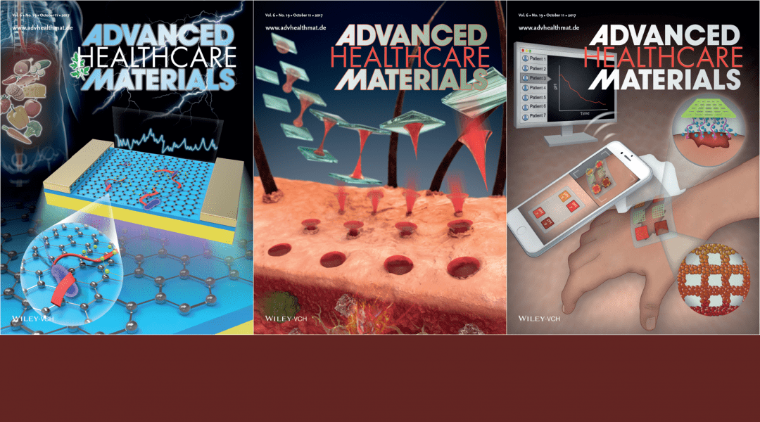 Cover Art – Featuring Centrifugal Lithography, Wound Dressings and Biosensors