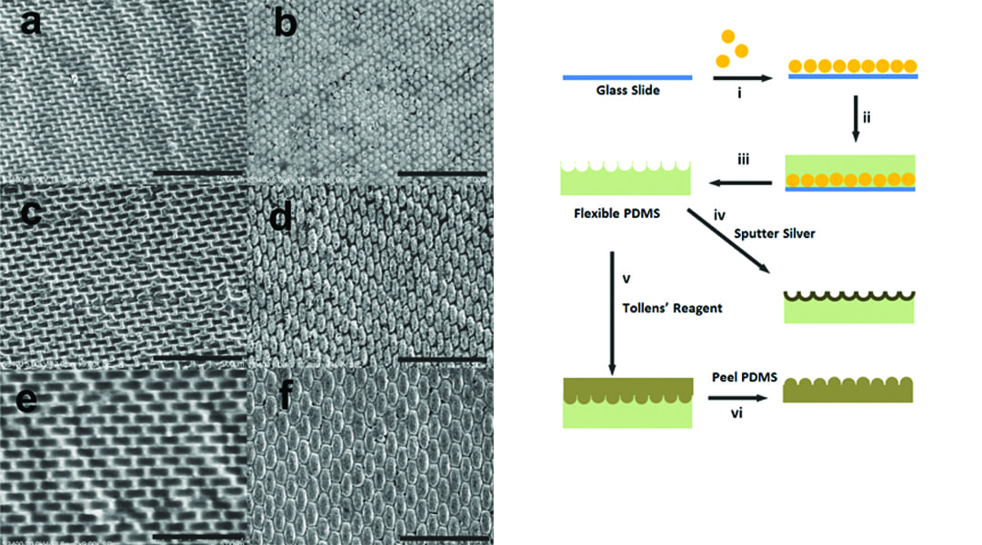 Periodic Silver Nanopore And Nanoparticle Arrays With