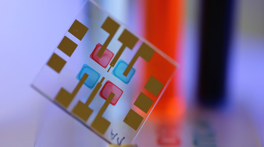 Printable sensors to enable data transmission by light