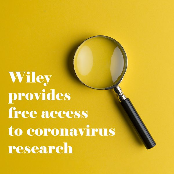 Wiley provides free access to coronavirus research