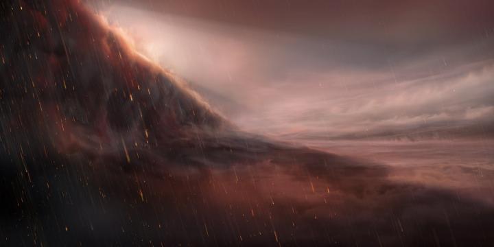 An exoplanet that rains iron
