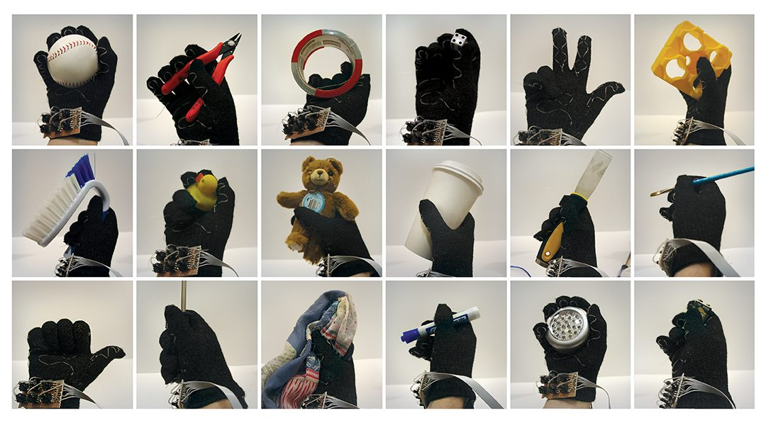 Simple-to-make smart glove gives robots sense and reason